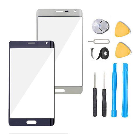 Samsung Galaxy Note Edge Glass Screen Replacement Premium Repair Kit N915- Black / White