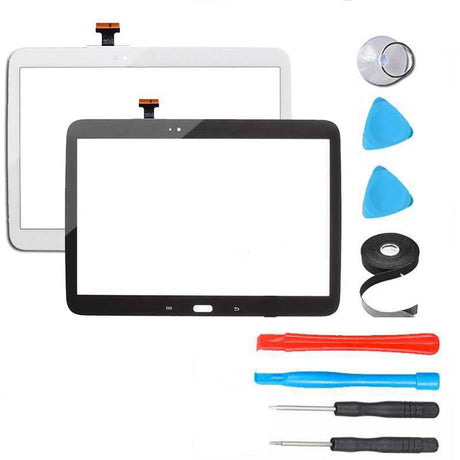 Samsung Galaxy Note 10.1  Screen Replacement + Touch Digitizer Replacement Premium Repair Kit GT-SM-P600 P605 WIFI - Black / White