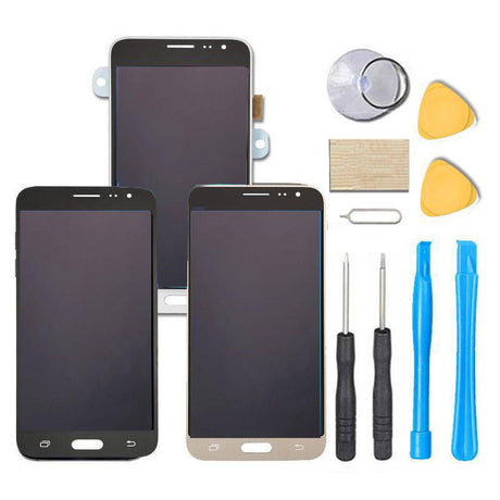 Samsung Galaxy J36 J36V J3V Screen Replacement LCD Digitizer Assembly Premium Repair Kit 2016 J36 J320v J320Vpp- Black/Gold/White