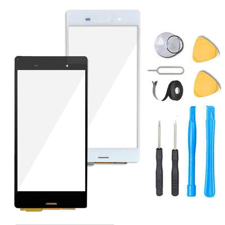 Sony Xperia Z3 Mini Glass Screen Replacement + Touch Digitizer Premium Repair Kit Compact D5803 | D5833- Black or White