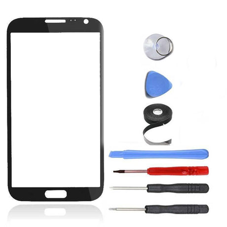 Samsung Galaxy Note 2 Glass Screen Replacement Premium Repair Kit - Black