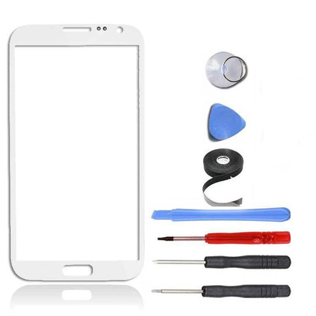 Samsung Galaxy Note 2 Glass Screen Replacement Premium Repair Kit - White