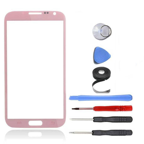 Samsung Galaxy Note 2 Glass Screen Replacement Premium Repair Kit - Pink