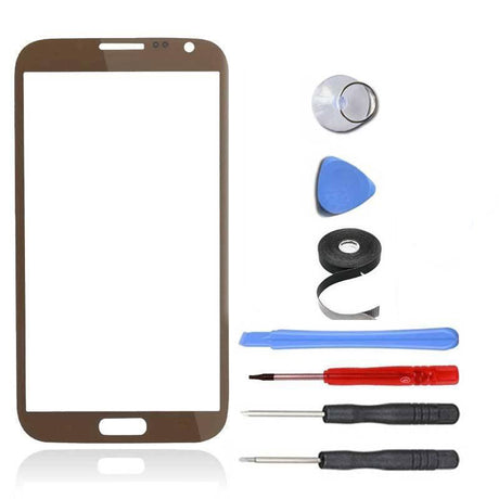 Samsung Galaxy Note 2 Glass Screen Replacement Premium Repair Kit - Brown