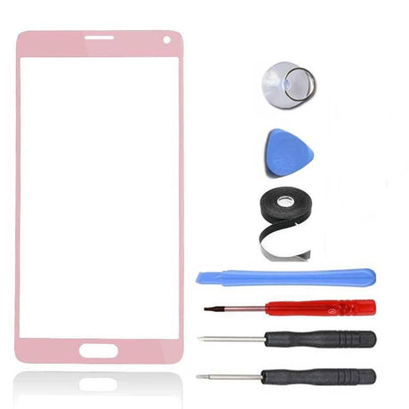Samsung Galaxy Note 4 Glass Screen Replacement Premium Repair Kit - Pink
