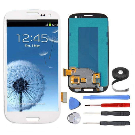 Samsung Galaxy S3 Screen Replacement LCD and Digitizer Assembly Premium Repair Kit - White