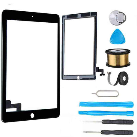 iPad 2 Glass Screen Digitizer Replacement Premium Repair Kit A1395, A1396, A1397 Black