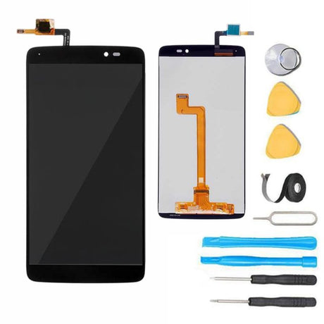 Alcatel One Touch Idol 3 Screen Replacement + LCD + Touch Digitizer Premium Repair Kit 6045 - Black