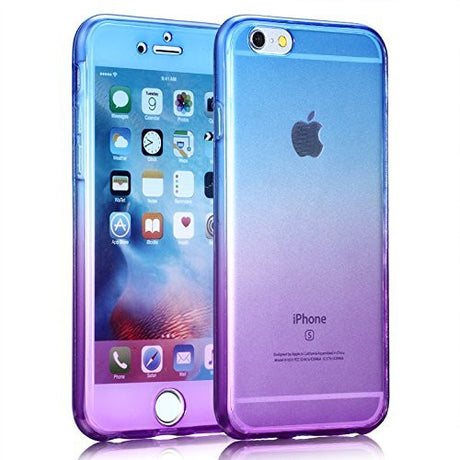 Ombre Gradient Transparent Protective Soft Case Cover - All iPhone Models