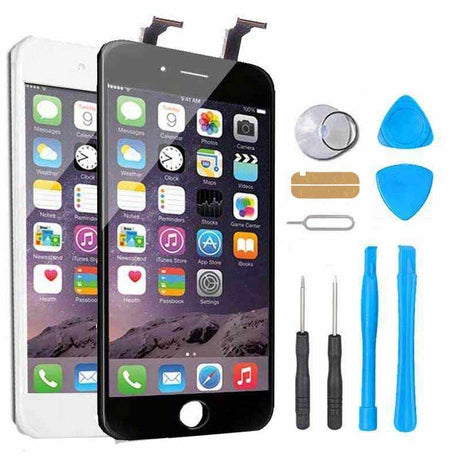 iPhone 6 Screen Replacement + LCD + Digitizer Display Premium Repair Kit  - Black or White
