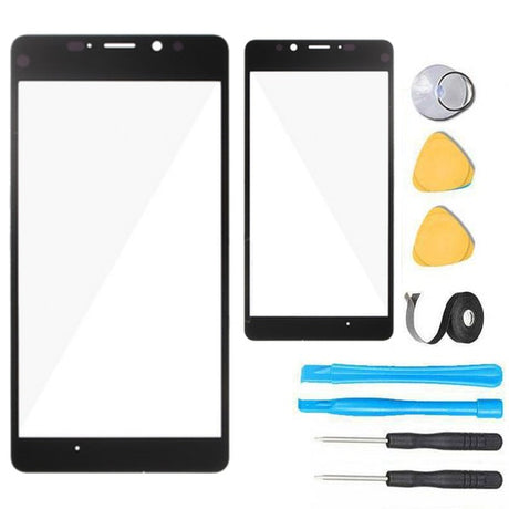 Nokia Lumia 950 Glass Screen Replacement with LCD Premium Repair Kit - Black