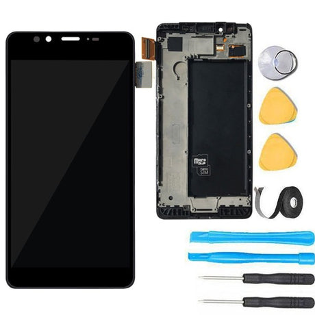 Nokia Lumia 950 LCD Screen Replacement + Frame + Digitizer Premium Repair Kit  RM-1105 RM-1104 - Black