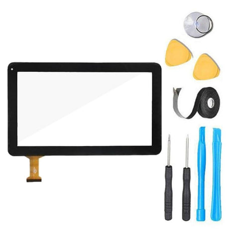 "Dragon Touch A1X Plus 10.1"" Glass Screen Replacement parts plus tools"