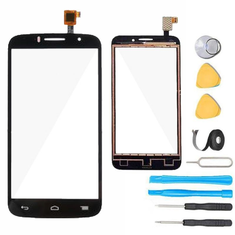 Alcatel One Touch Pop Icon Glass Screen Replacement+ Touch Digitizer  Premium Repair Kit A564C- Black