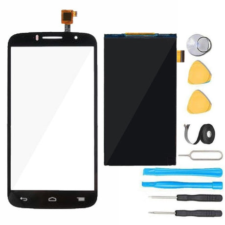 Alcatel One Touch Pop Icon LCD Display and Glass Screen+ Touch Digitizer Replacement Premium Repair Kit A564C - Black
