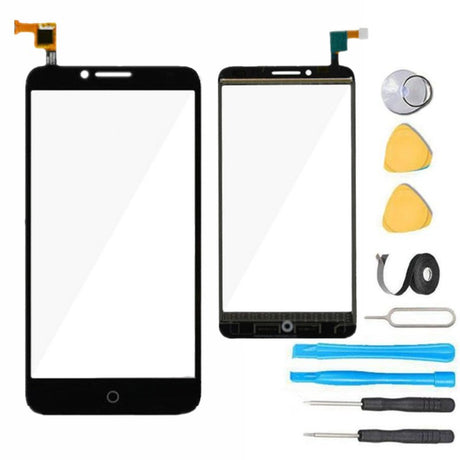 Alcatel One Touch Fierce XL Glass Screen Replacement + Touchscreen Digitizer LTE OT-5054 5054N- Black