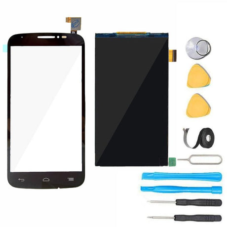 Alcatel One Touch Pop C7 LCD Display and Glass Screen + Touch Digitizer Replacement Premium Repair Kit - Black