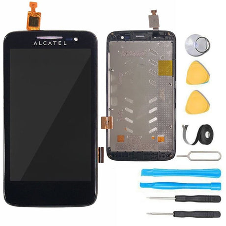 Alcatel One Touch Evolve 3G Screen Replacement LCD+ Digitizer + Frame Display Premium Repair Kit 5020T - Black