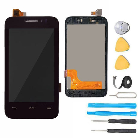 Alcatel One Touch Evolve 2 Screen Replacement LCD + Digitizer + Frame Display Premium Repair Kit  - Black