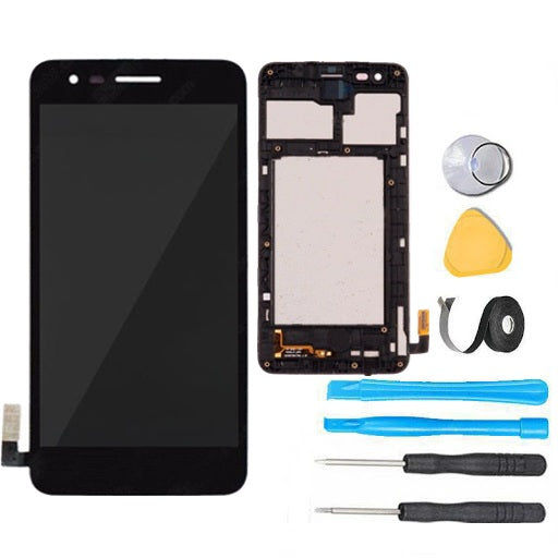 LG Rebel 2 Screen Replacement LCD + Digitizer + Frame + Premium Repair Kit  L57BL L58VL - Black
