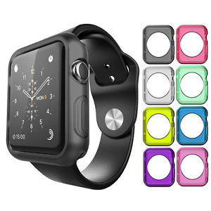 Protective Silicone Bumper Case Cover For Apple Watch 38mm / 42mm