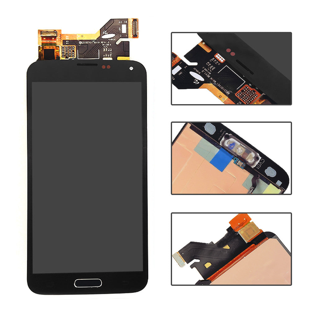 Samsung Galaxy S5 Screen Replacement +LCD + Digitizer Assembly Premium Repair Kit OEM G900- Black / White