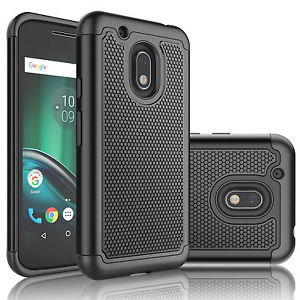 Rugged Armor Protective Case Cover - Motorola Moto G4 Plus