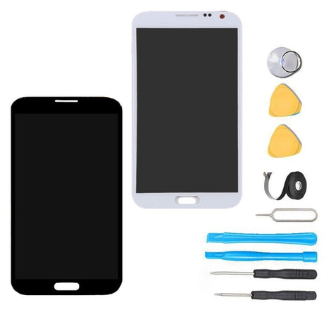 Samsung Galaxy S2 Screen Replacement + LCD + Touch Digitizer Assembly Premium Repair Kit - Black / White