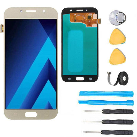 Samsung Galaxy A7 2017 Screen Replacement LCD Premium Repair Kit A720 - Gold
