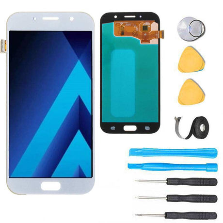 Samsung Galaxy A7 2017 Screen Replacement LCD Premium Repair Kit A720 - White