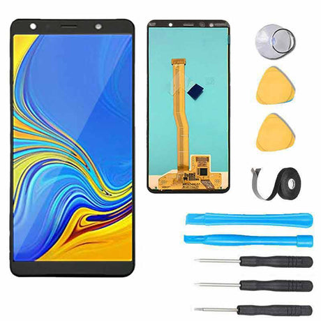 Samsung Galaxy A7 2018 Screen Replacement LCD Premium Repair Kit A750 - Black