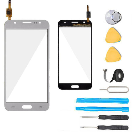 Samsung Galaxy J5 Glass and Touch Screen Digitizer Replacement Premium Repair Kit J500- White
