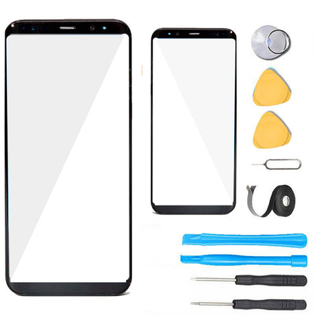 Samsung Galaxy S8 Plus Glass Screen Replacement Premium Repair Kit - Black