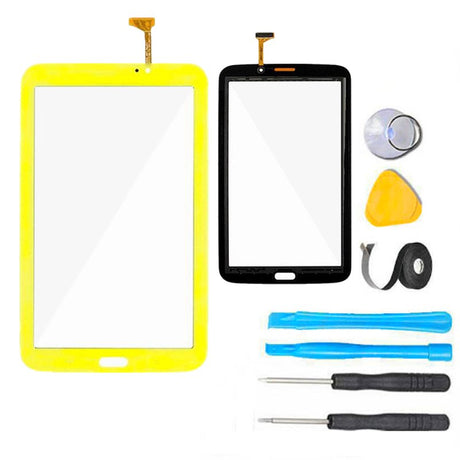 "Samsung Galaxy Kids Tab 3 7"" Glass Screen Replacement + Touch Digitizer Premium Repair Kit SM-T2105  - Yellow"