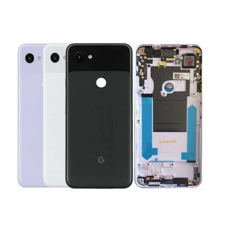 Google Pixel 3a Replacement Back Battery Cover - Black White Purple