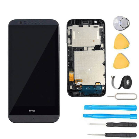 HTC Desire 510 Glass Screen + LCD + Touch Digitizer + Frame Replacement Premium Repair Kit - Black
