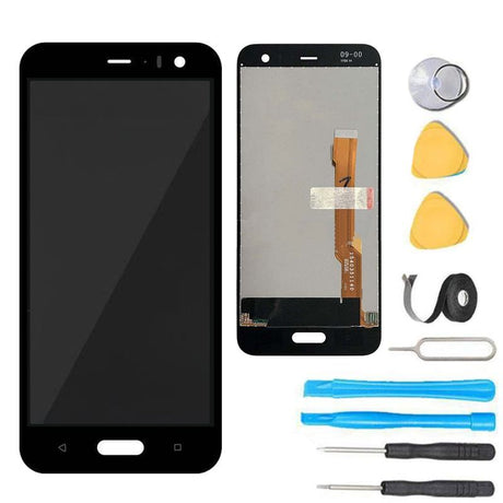"HTC U11 Screen Replacement Glass LCD and Digitizer Premium Repair Kit 5.5""- Black"