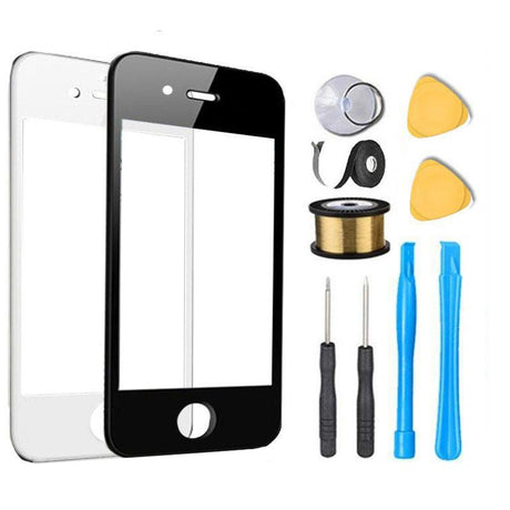 iPhone 4 Glass Screen Replacement Premium Repair Kit - Black or White