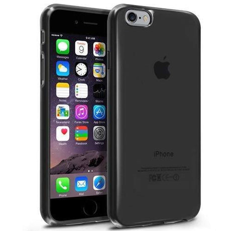 iPhone 6 Soft Transparent Protective Phone Case - Black - PhoneRemedies