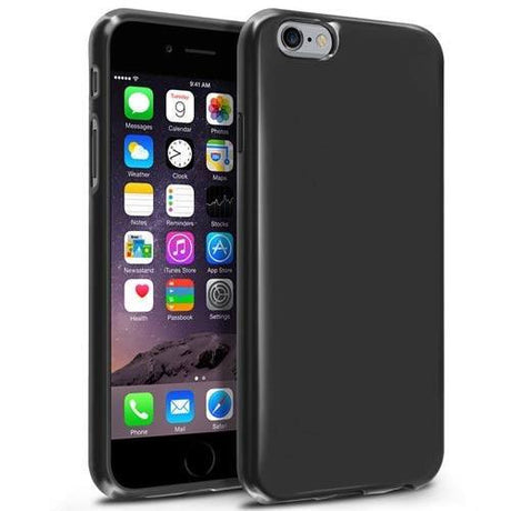 iPhone 6 Plus Soft Transparent Protective Phone Case - Black - PhoneRemedies