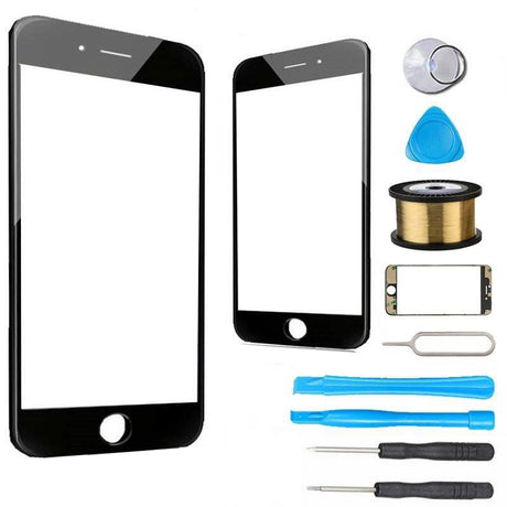 Phone 7 Plus Glass Screen Replacement Premium Repair Kit - Black