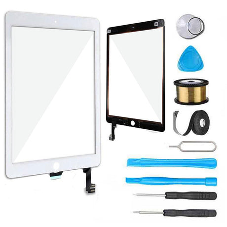 iPad Air 2 Glass Screen and Digitizer Replacement Premium Repair Kit - White
