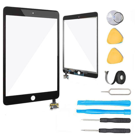 iPad Mini 1 and 2 Screen and Touch Digitizer Replacement Premium Repair Kit  - Black