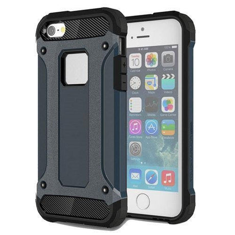 Black Rugged Armor Protective Hard Case Cover - All iPhone Models