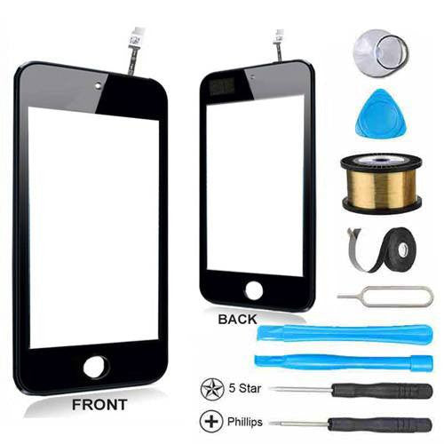 iPod Touch 4 Glass Screen Digitizer Replacement Premium Repair Kit - Black - PhoneRemedies