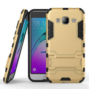 Hybrid Rugged Shockproof Rubber Stand Armor Protective Case Cover - Samsung Galaxy J7 2016 (J710)