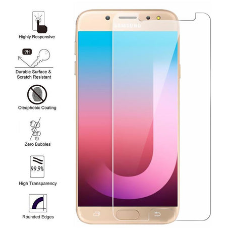 Samsung Galaxy J7 Pro (2017) Tempered Glass Screen Protector- J730 J730F/M/H
