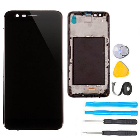 LG K20 Plus Screen Replacement LCD + FRAME Premium Repair Kit- Black