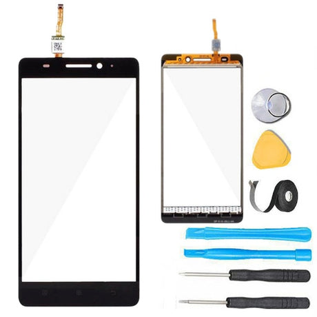 Lenovo K3 Note Glass Screen Replacement + Touch Digitizer Replacement Premium Repair Kit A7000 K50-T5 - Black