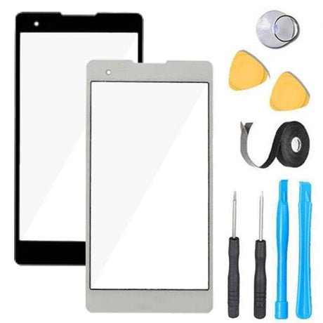 LG K6 X Style Glass Screen Replacement Premium Repair Kit K200 K200ds L53BL L53BG L56VL- Black or White